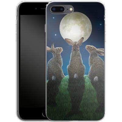Apple iPhone 8 Plus Silikon Handyhuelle - Moonshadows von Lisa Parker
