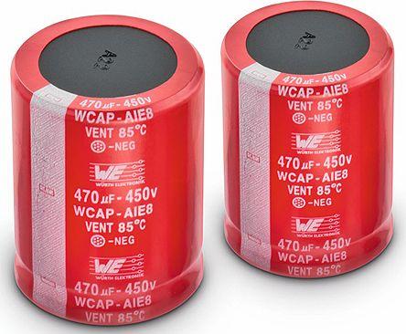 Wurth Elektronik 180μF Electrolytic Capacitor 450V dc, Through Hole - 861221484010 (2)