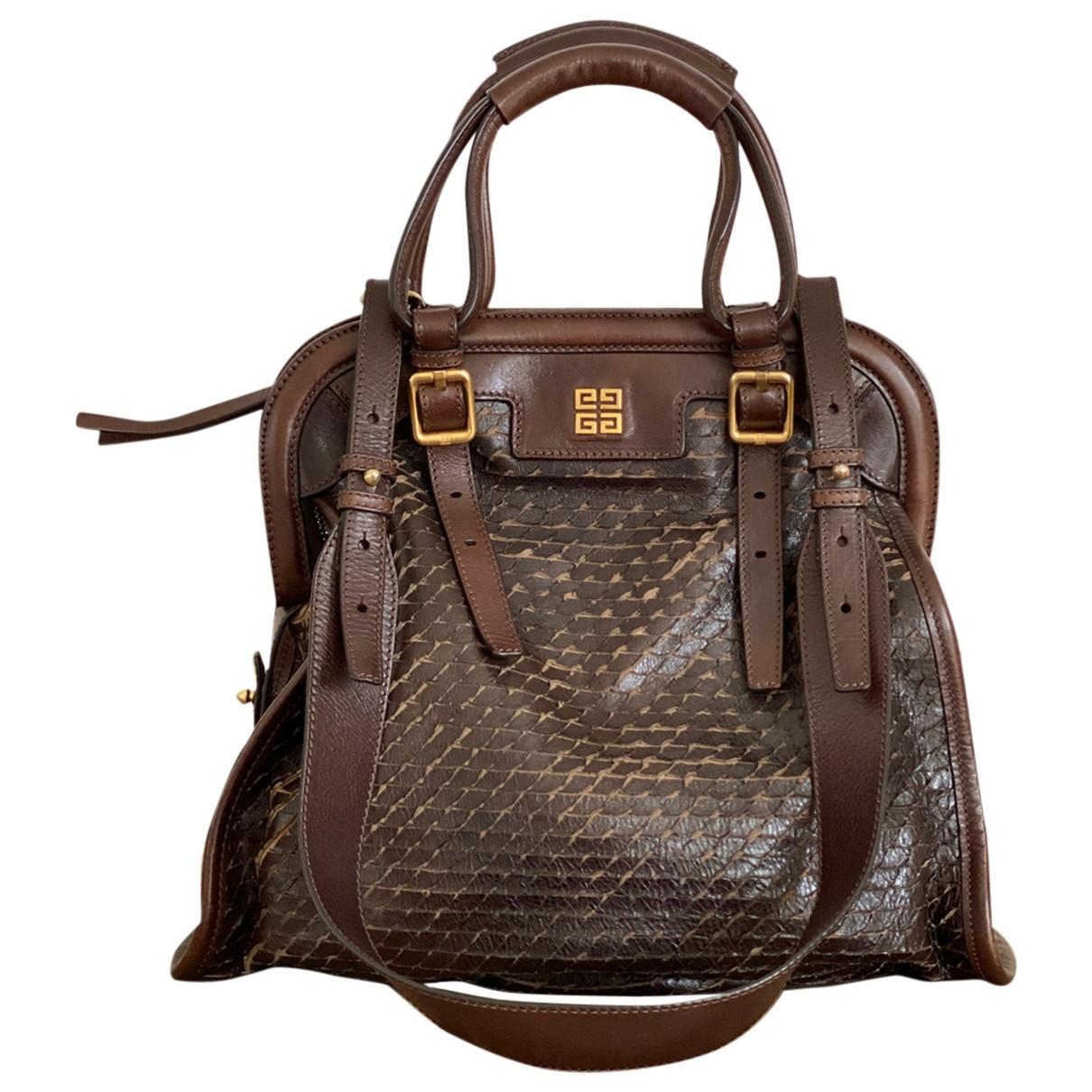 Givenchy - Sac a main   pour femme en cuir - marron