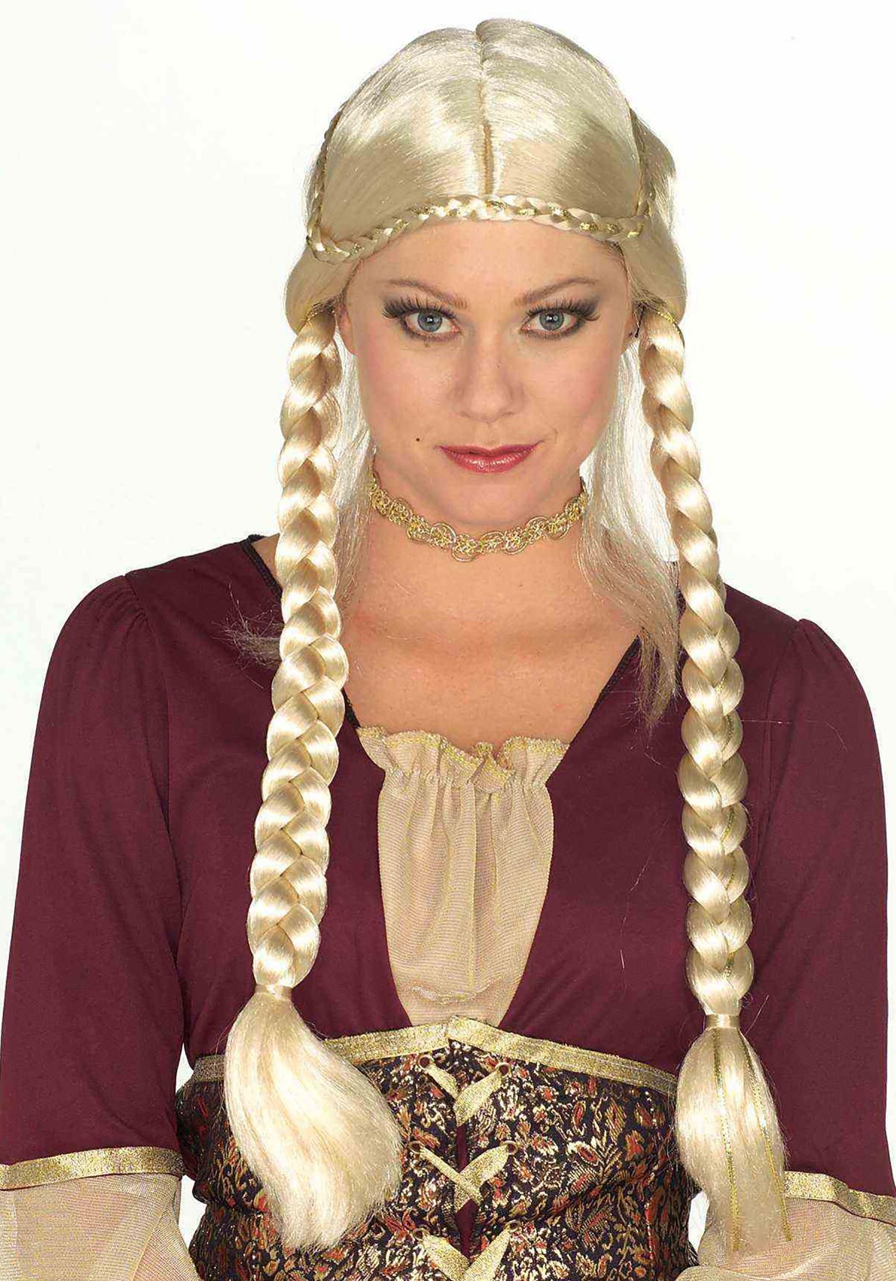 Blonde Renaissance Women's Braided Wig