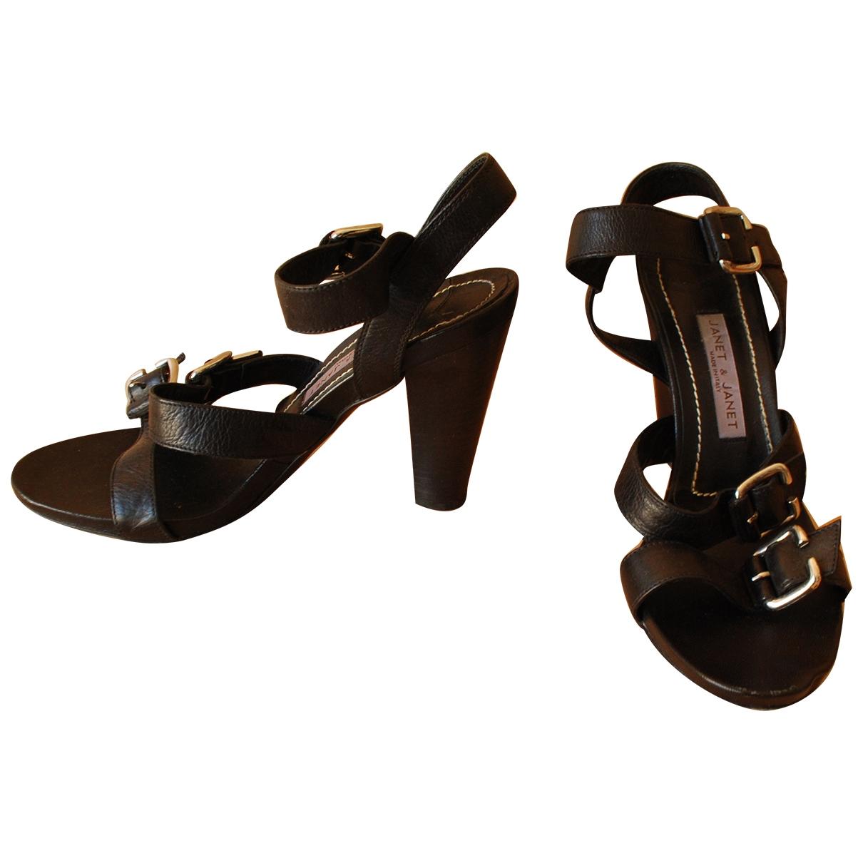 Janet & Janet - Escarpins   pour femme en cuir - noir