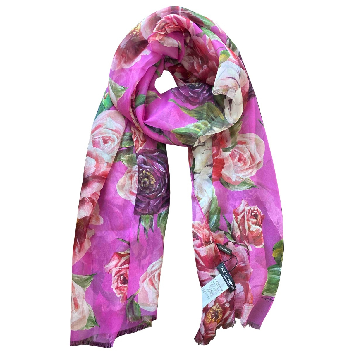 Dolce & Gabbana \N Pink Silk scarf for Women \N