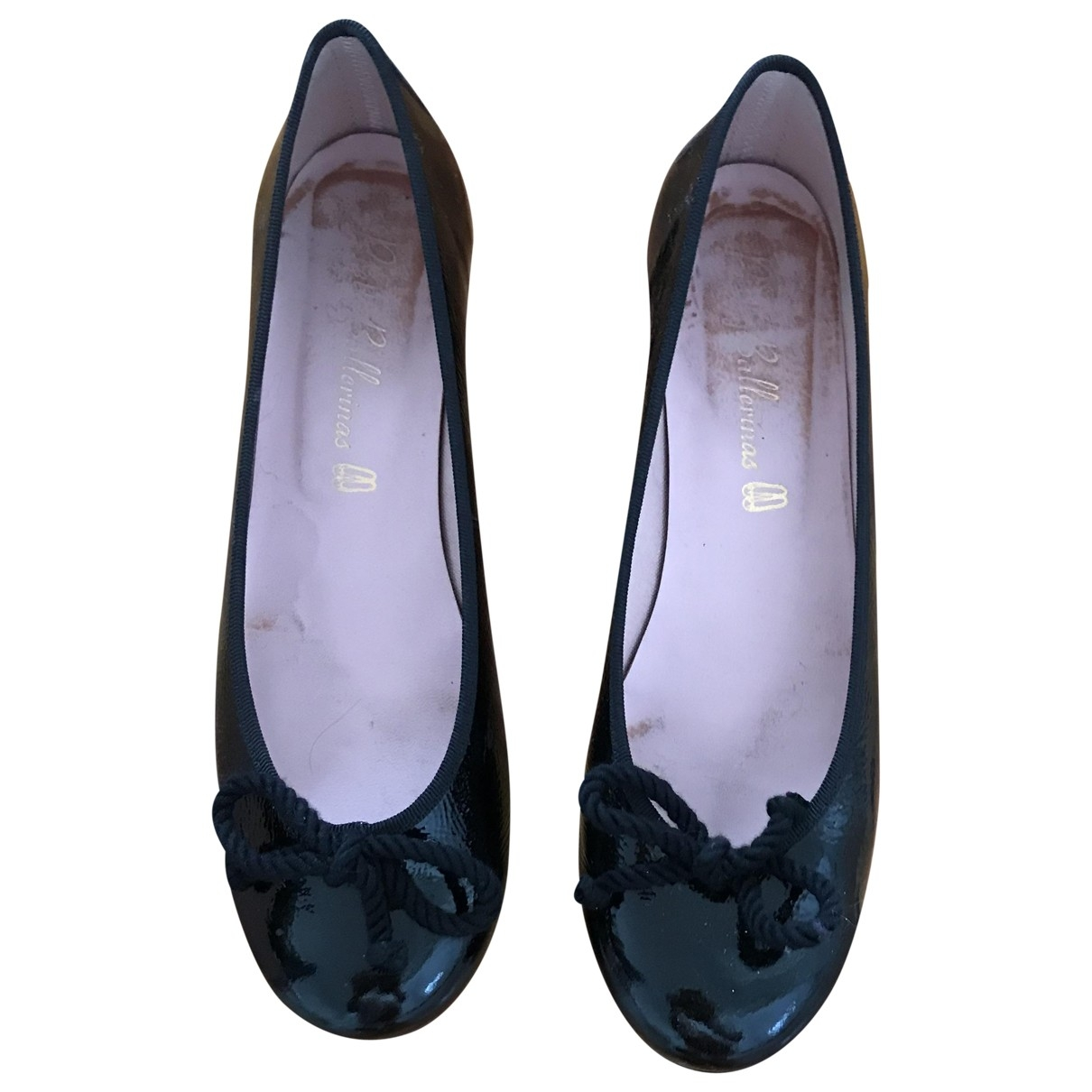Pretty Ballerinas - Escarpins   pour femme en cuir - noir