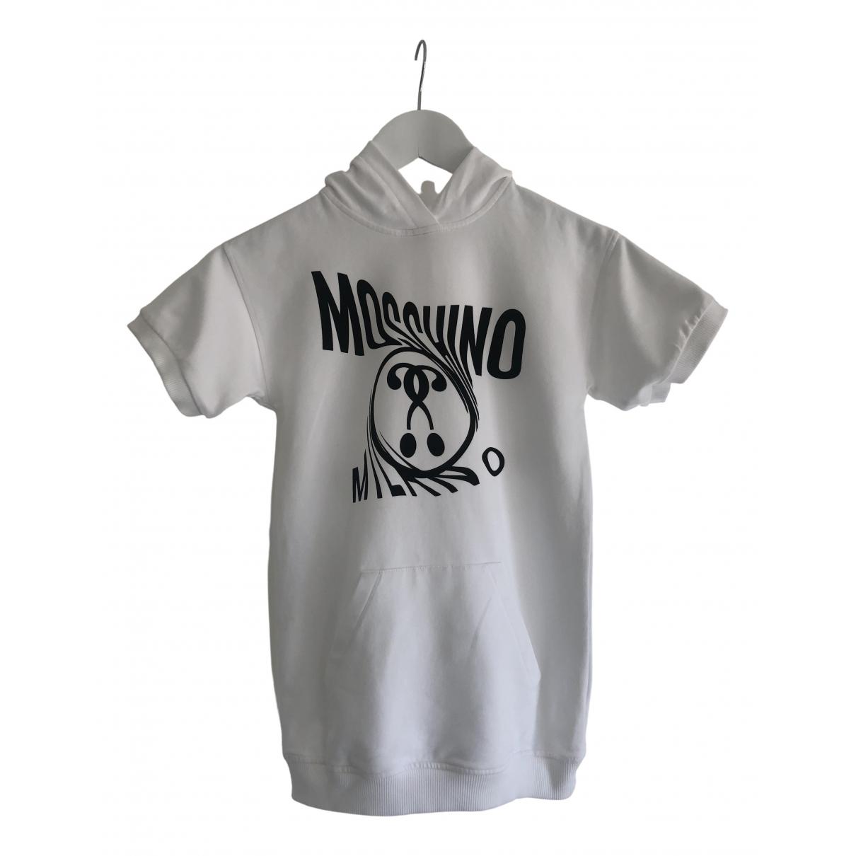 Moschino \N Kleid in  Weiss Baumwolle - Elasthan