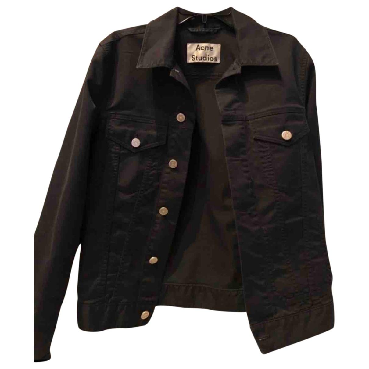 Acne Studios - Veste   pour femme en coton - noir