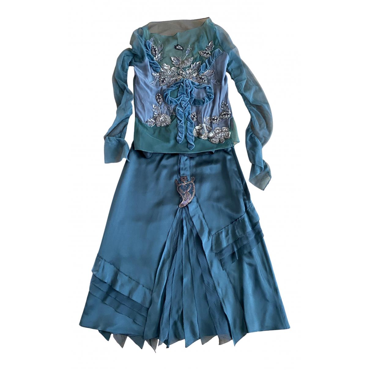 Kenzo N Green Silk dress for Women 38 FR
