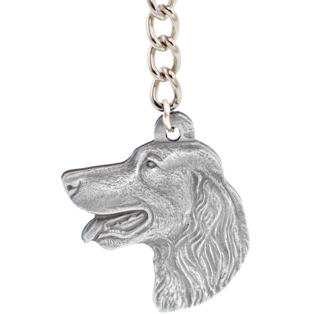 Dog Breed Keychain USA Pewter - Irish Setter (2.5