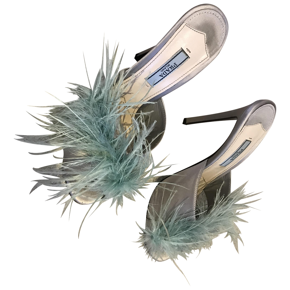 Prada - Sandales   pour femme en toile - vert