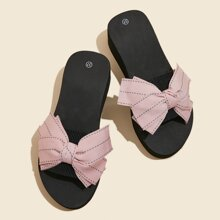 Bow Decor Wide Fit Slides