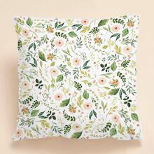 Kissenbezug mit Blumen Muster ohne Fuelle