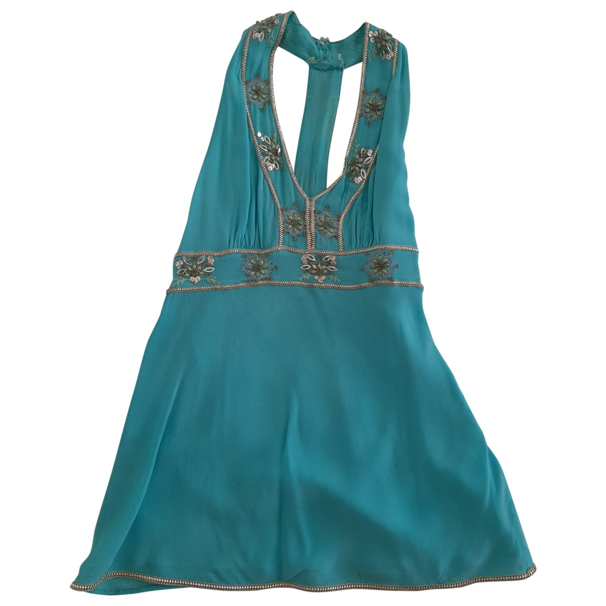 Non Signé / Unsigned \N Turquoise Glitter  top for Women 42 IT