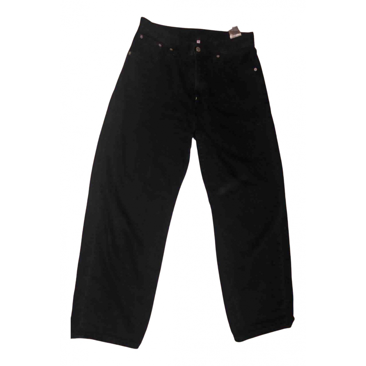 Levi's N Black Cotton Trousers for Women 42 IT
