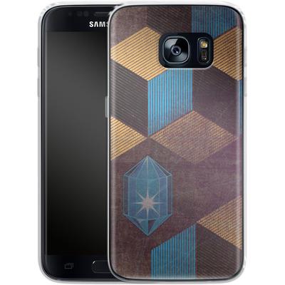 Samsung Galaxy S7 Silikon Handyhuelle - Cubes Gems von Brent Williams