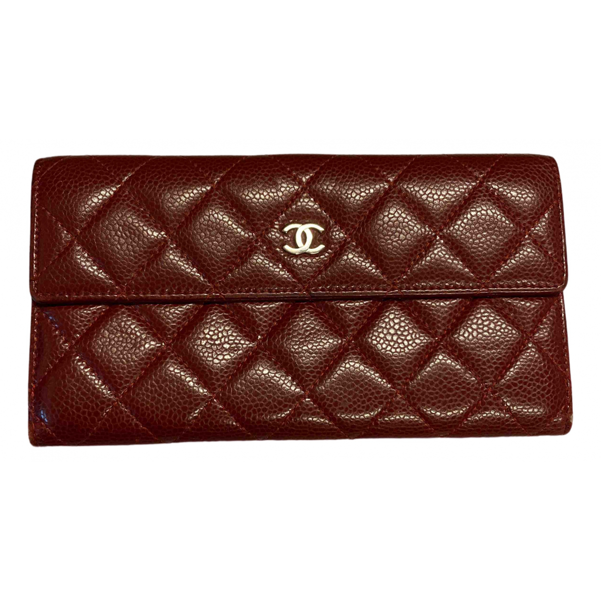 Chanel Timeless/Classique Burgundy Leather Purses, wallet & cases for Women \N