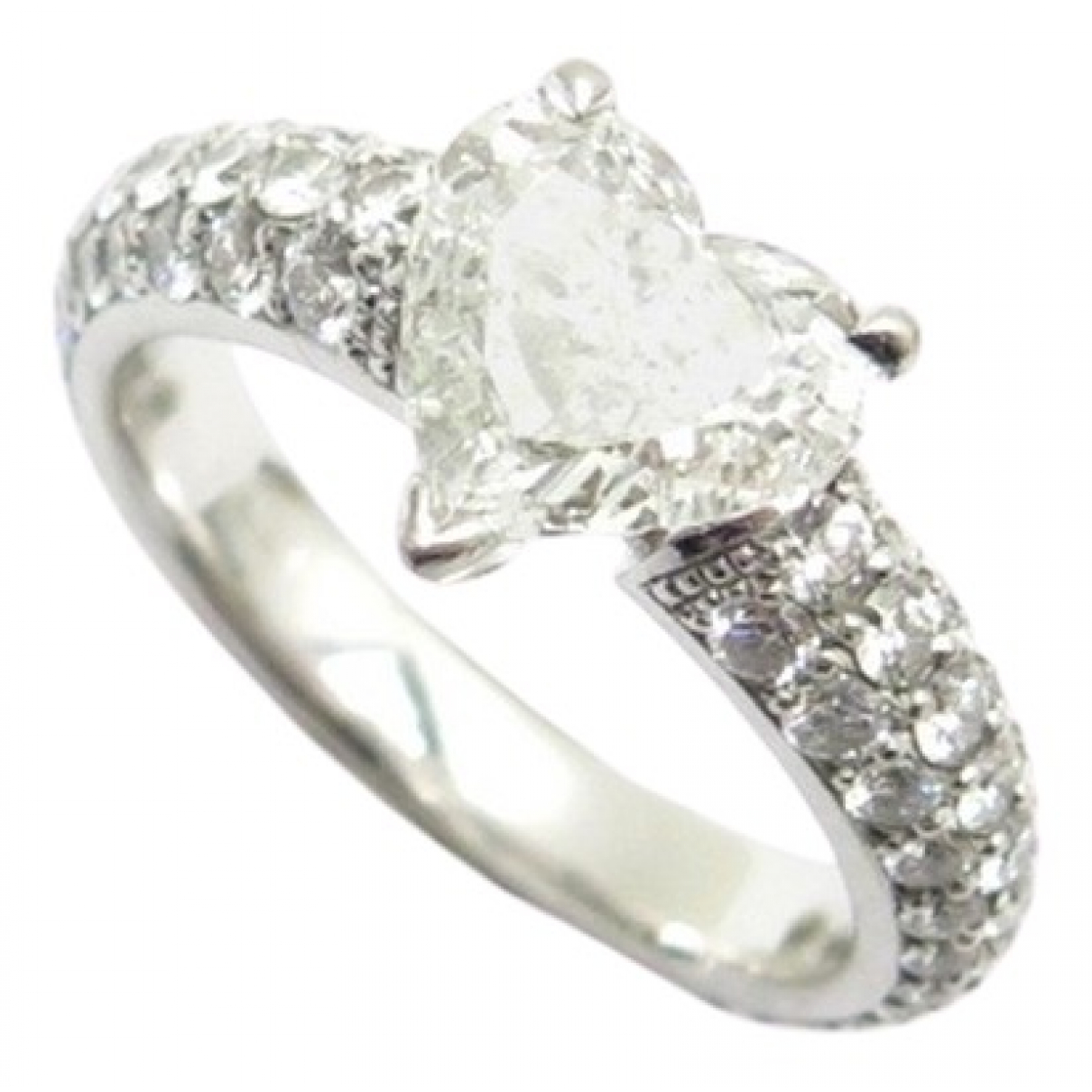 Non Signé / Unsigned \N Platinum ring for Women 44 MM