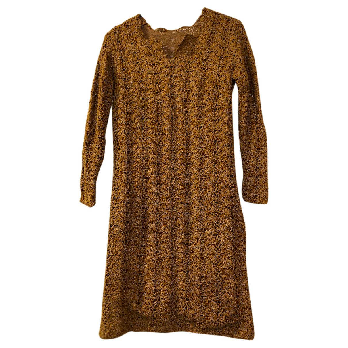 - Robe Epaulettes pour femme - camel