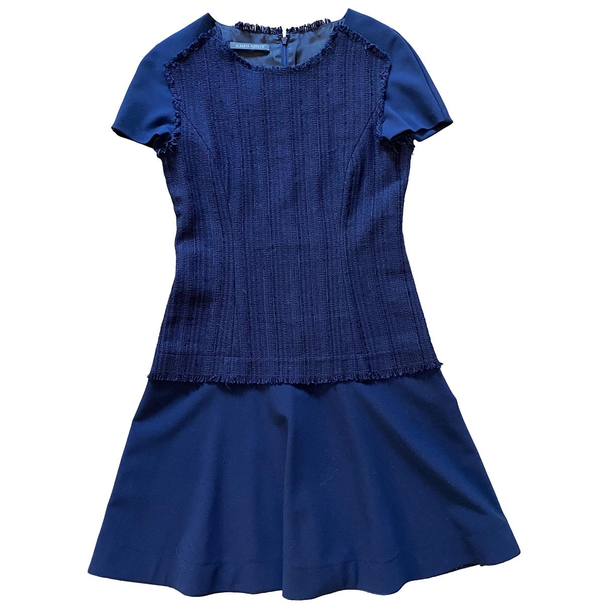 Alberta Ferretti - Robe   pour femme en coton - bleu