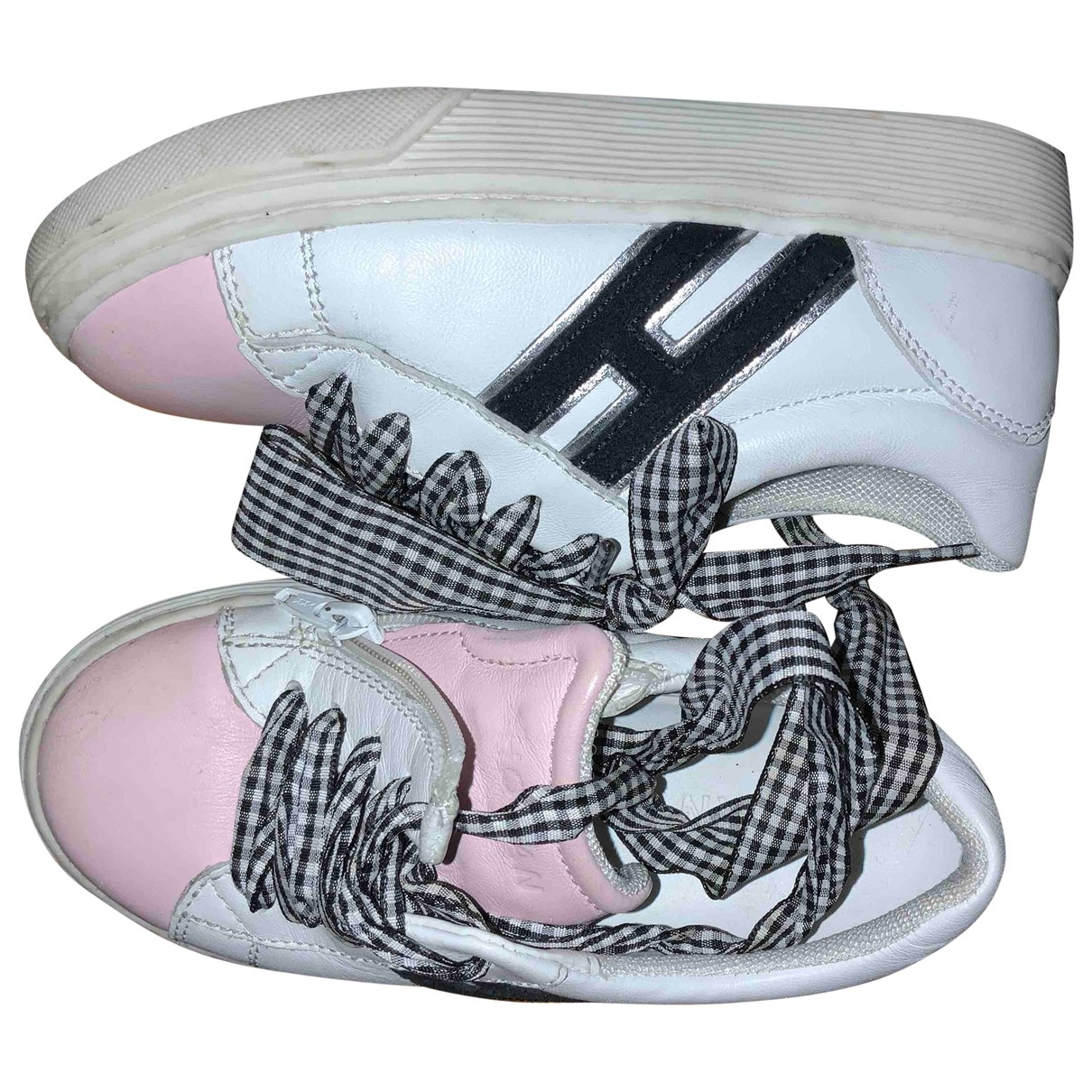 Hogan \N White Leather Trainers for Kids 26 EU