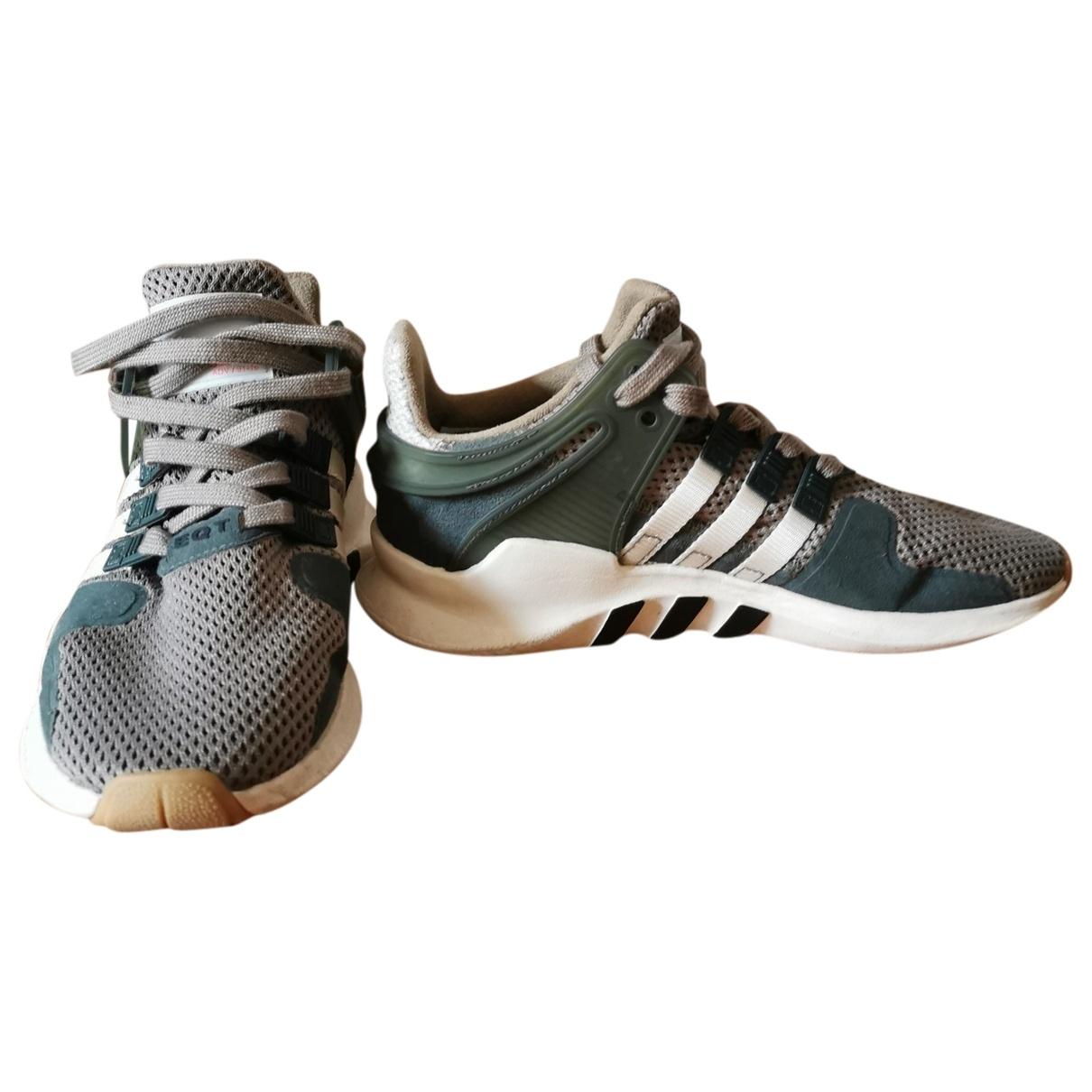 Adidas EQT Support Sneakers in  Gruen Leinen