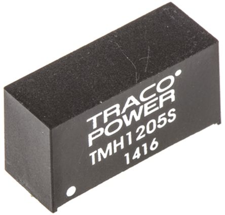 TRACOPOWER TMH 2W Isolated DC-DC Converter Through Hole, Voltage in 10.8 → 13.2 V dc, Voltage out 5V dc