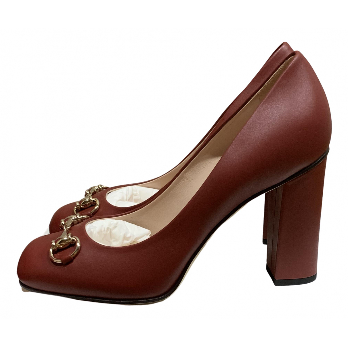Gucci \N Red Leather Heels for Women 37.5 EU