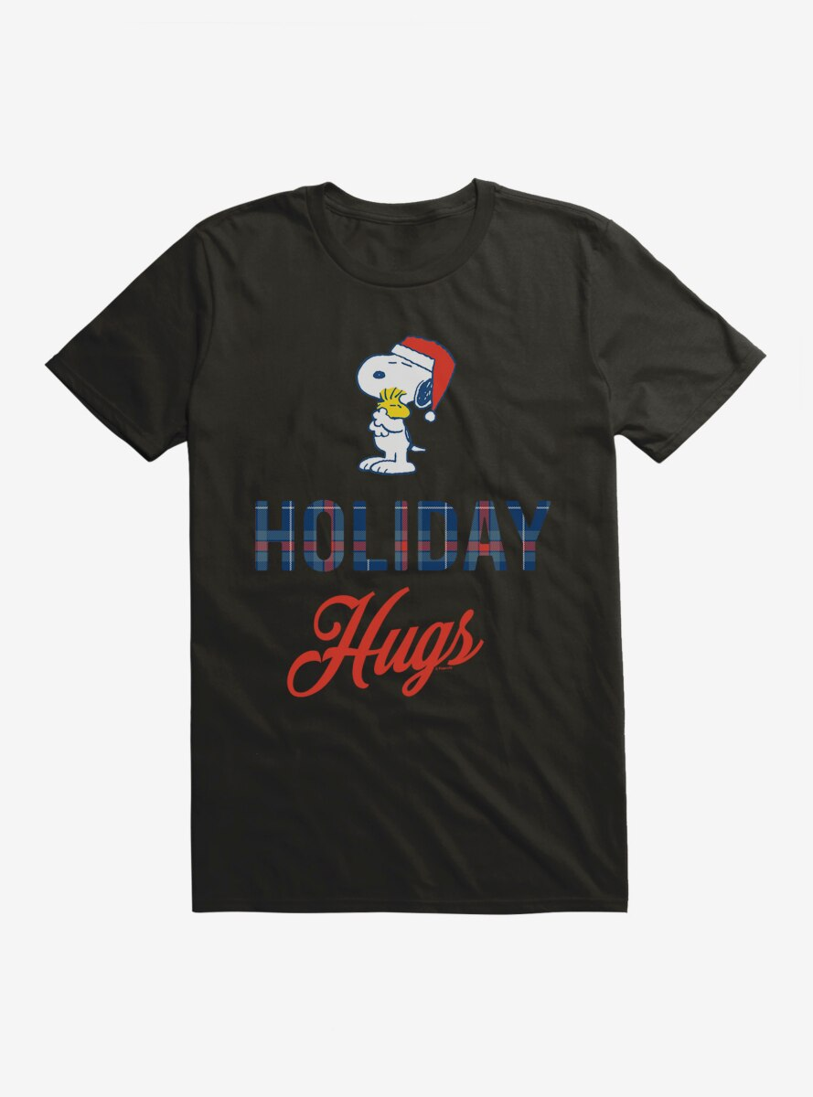 Peanuts Warm Wishes Snoopy Holiday Hugs T-Shirt