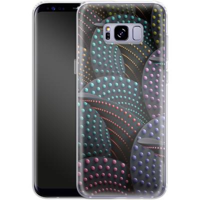 Samsung Galaxy S8 Plus Silikon Handyhuelle - Green Spiral Pattern von Danny Ivan