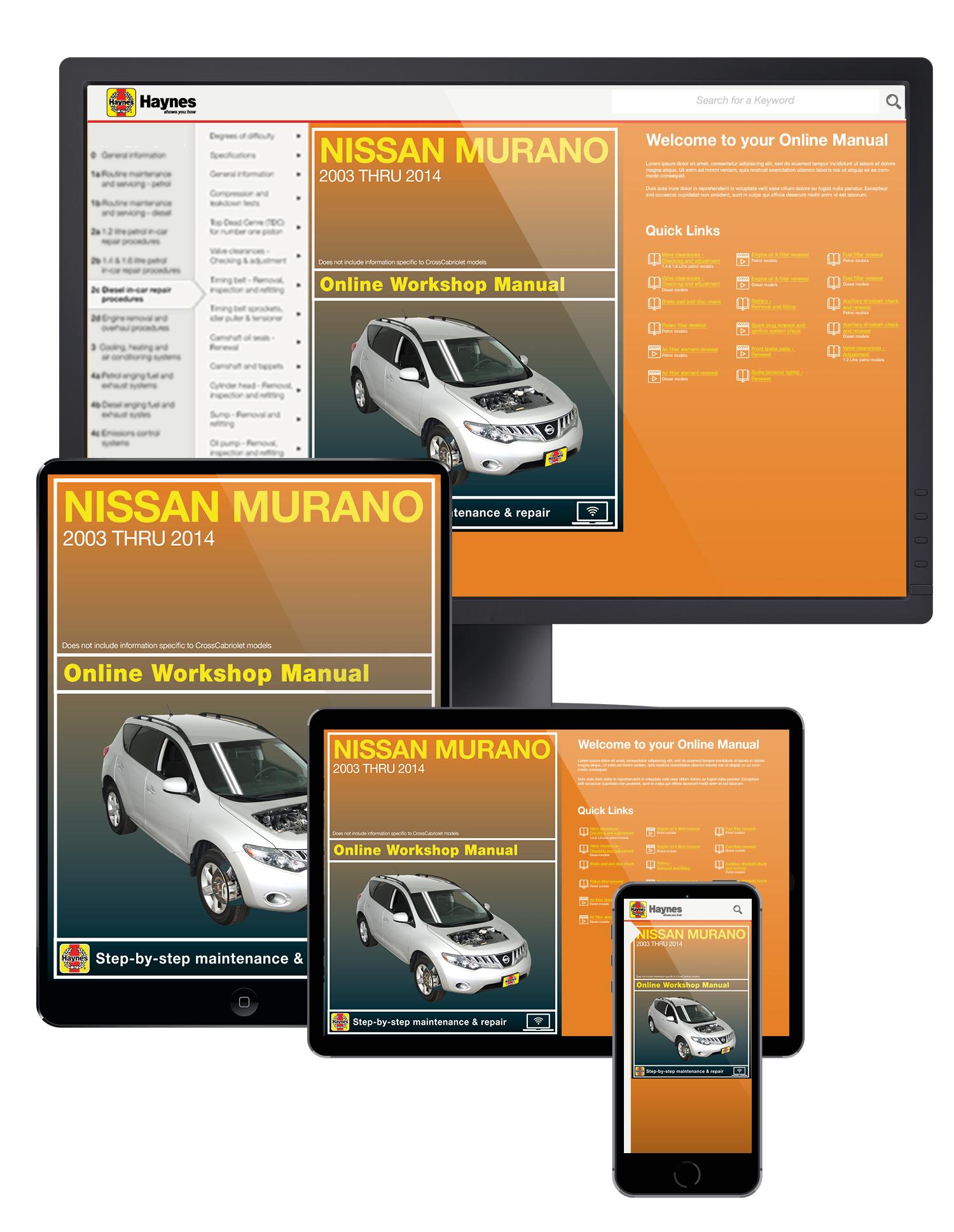 Nissan Murano (03-14) Haynes Online Manual