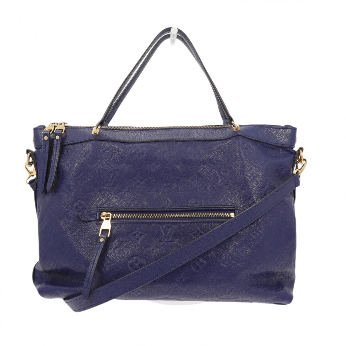 Louis Vuitton Bastille Blue Leather handbag for Women N