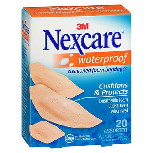 Nexcare Waterproof Cushioned Foam Bandages Assorted Size 20 Each by Nexcare