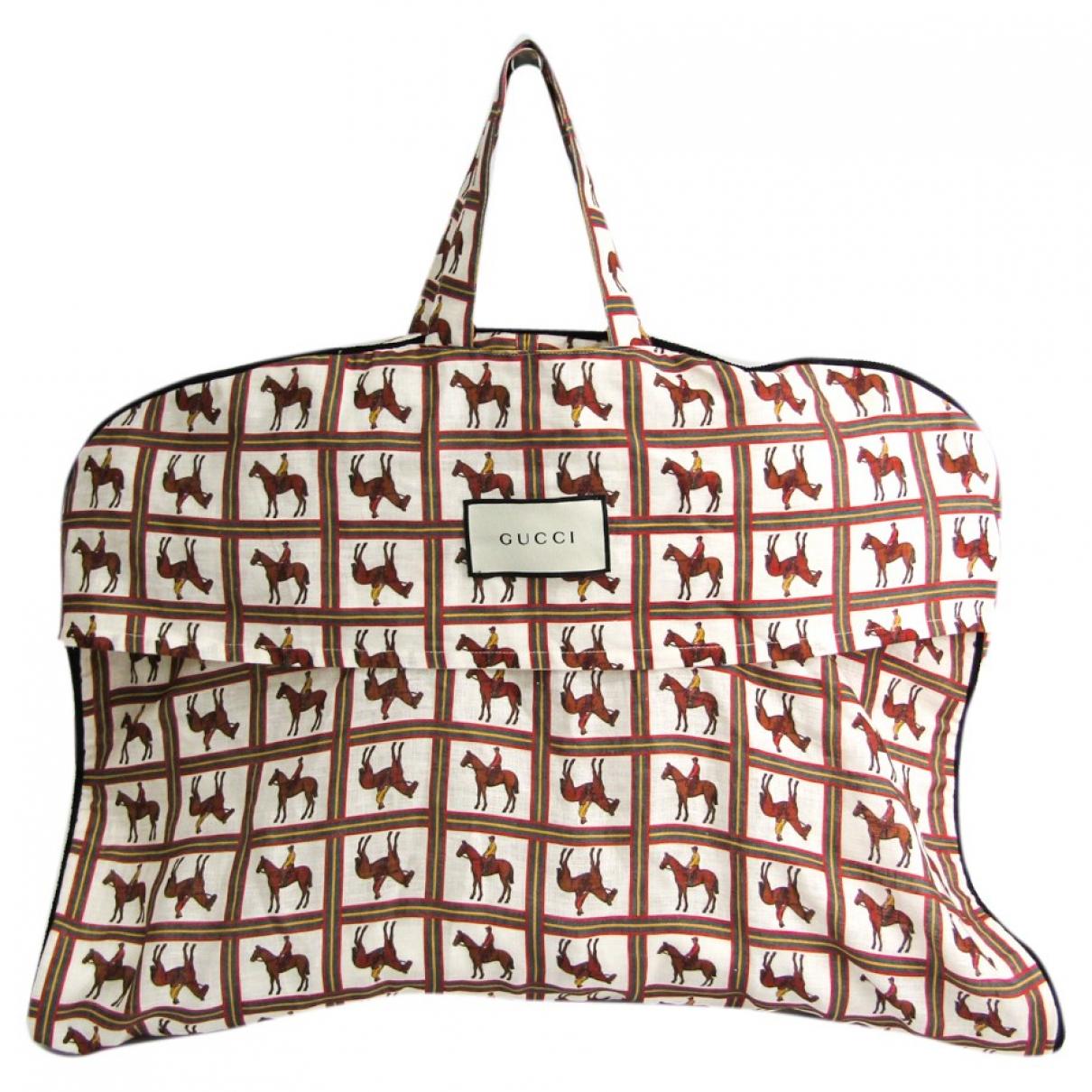 Gucci - Sac de voyage   pour femme en coton - marron