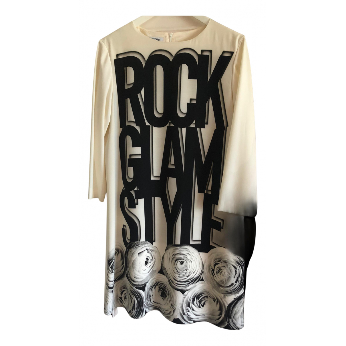 Moschino \N Kleid in  Ecru Polyester