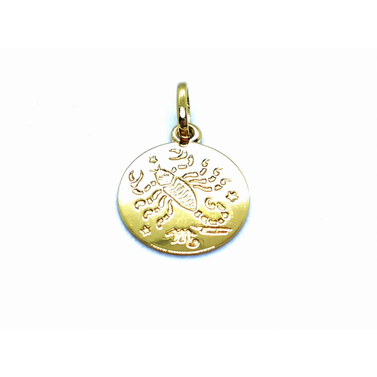 Non Signe / Unsigned Motifs Animaliers Anhaenger in  Gold Gelbgold