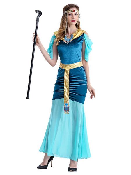 Milanoo Disfraz de principe egipcio para mujer, disfraz de Halloween