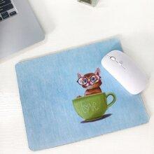1pc Cat Print Mouse Pad