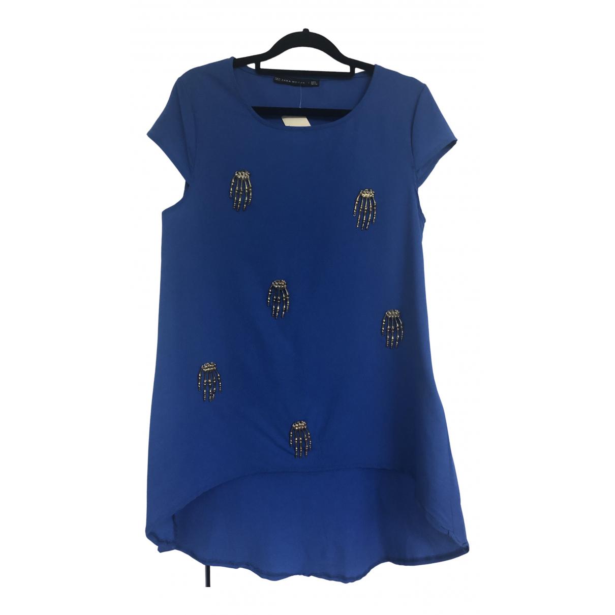 Zara - Top   pour femme - bleu