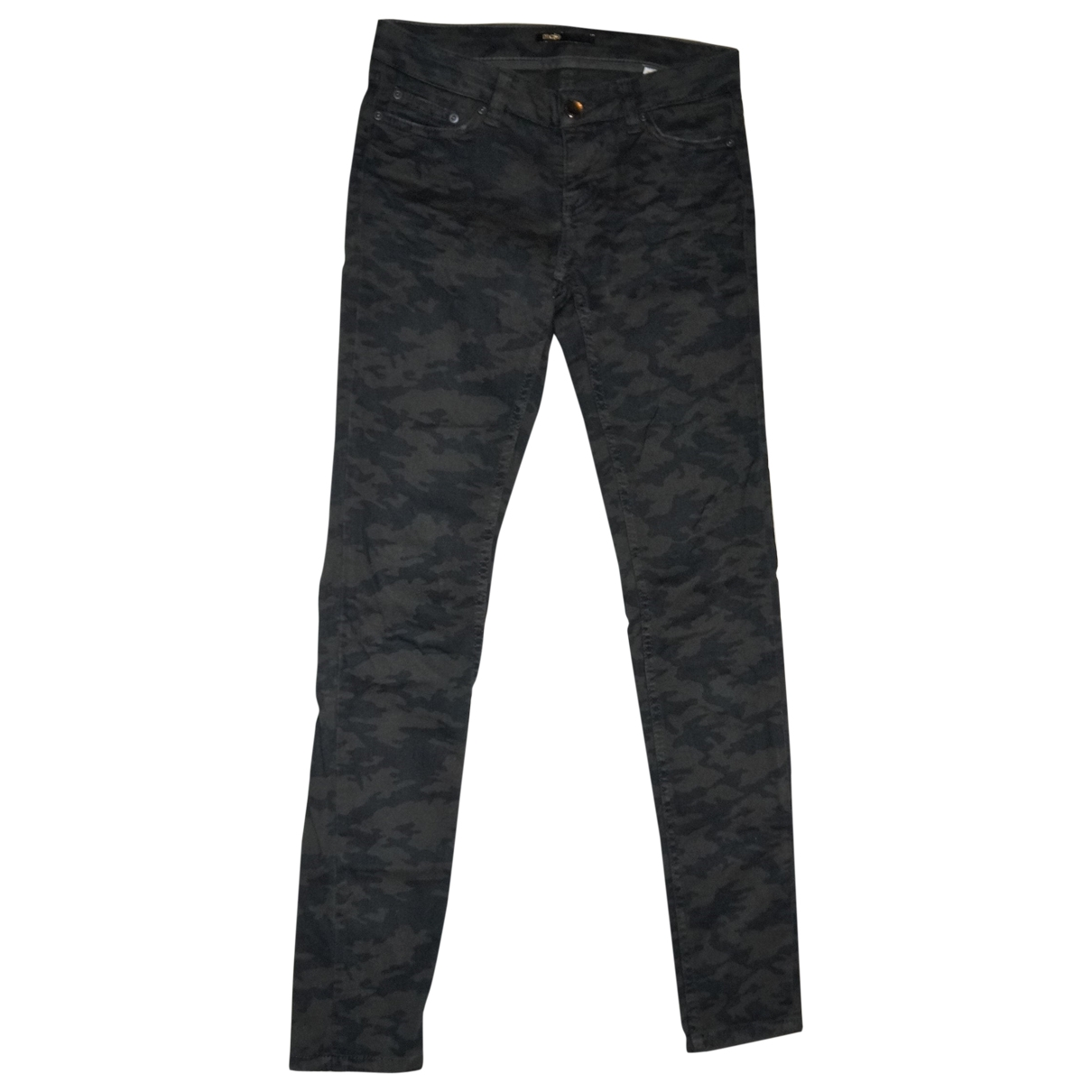 Maje \N Khaki Cotton - elasthane Jeans for Women 36 FR