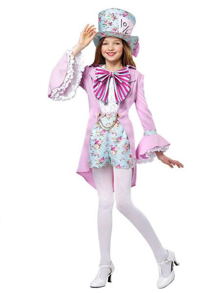 Milanoo Disfraz de niños Halloween Disfraces de Halloween para niños Encaje Floral Print Princess Outfit Disfraz Carnaval Disfraz Halloween