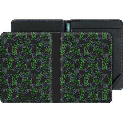 tolino vision 4 HD eBook Reader Huelle - Simon´s Cat Black and Green Pattern von Simons Cat