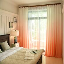 Gradient Pattern Single Panel Curtain