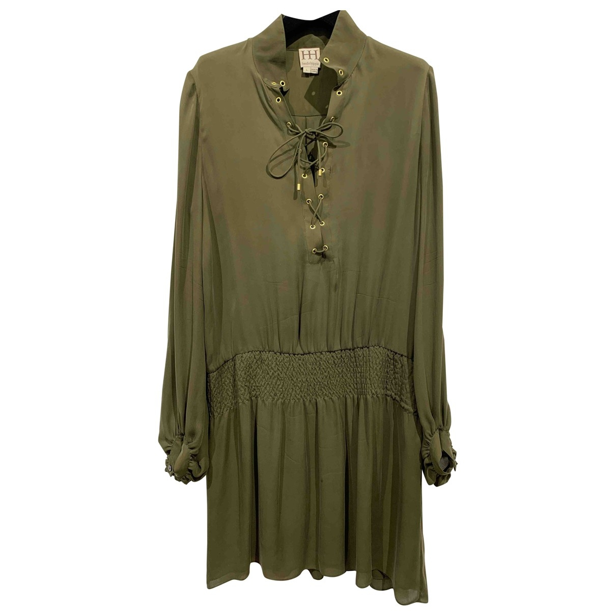 Haute Hippie \N Khaki Silk dress for Women L International