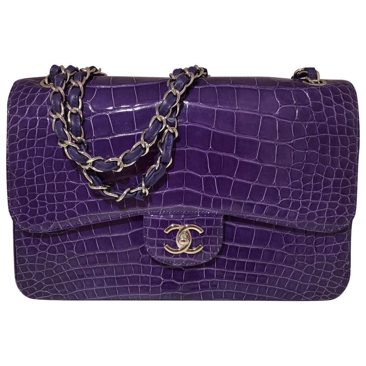 Chanel Timeless/Classique Handtasche in  Lila Aligator