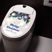 Weihnachten Toilettenaufkleber mit Karikatur Grafik