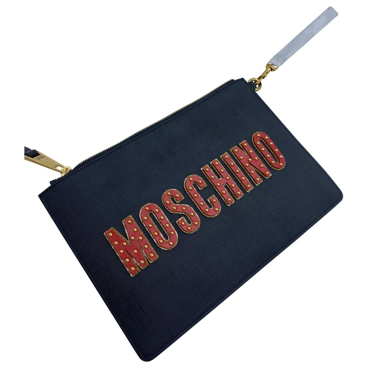 Moschino \N Clutch in  Schwarz Leinen