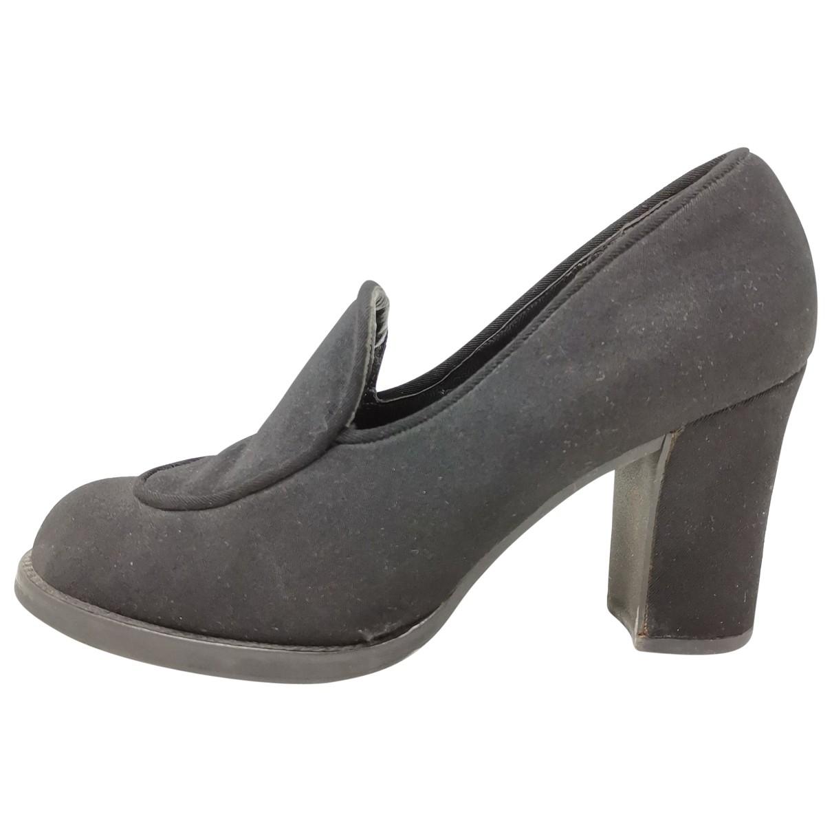 Miu Miu \N Black Cloth Flats for Women 38.5 EU
