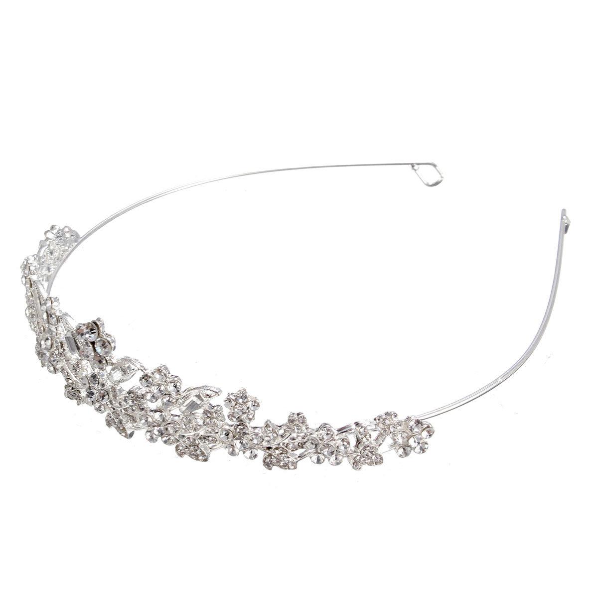 Women Bridal Hair Jewelry Crown Leaves Flower Headband Hair Accessories