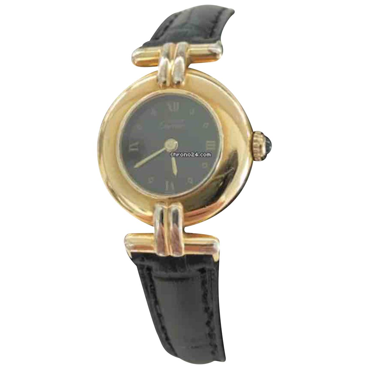 Cartier \N Uhr in  Schwarz Vermeil