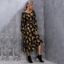 Kleid mit Blumen Muster
