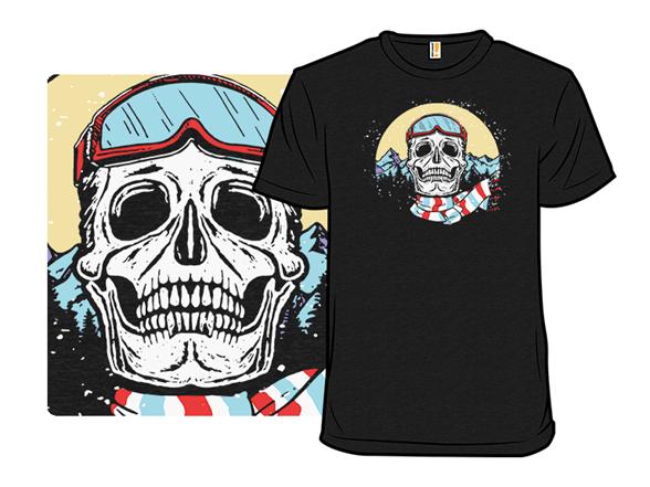 Skiing Skull T Shirt