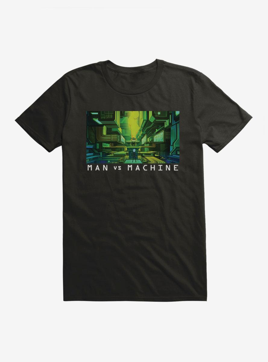 Rick And Morty Man Vs Machine T-Shirt